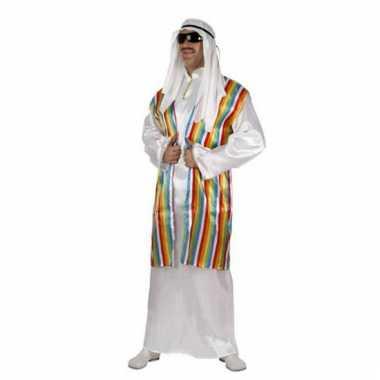 Arabieren carnavalskleding regenboog vest