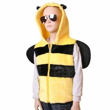 Bijen bodywarmer kind carnavalskleding