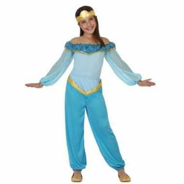 Blauw arabische prinses carnavalskleding