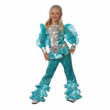 Blauw dancing Queen carnavalskleding kind