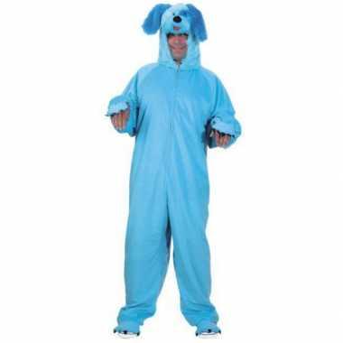 Blauw honden carnavalskleding