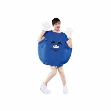 Blauw snoep carnavalskleding volwassenen