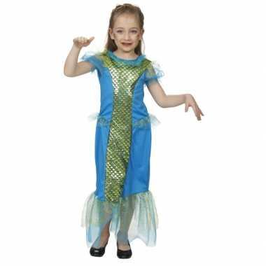 Blauw zeemeermin carnavalskleding kind