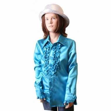 Blauwe hippie carnavalskleding kind