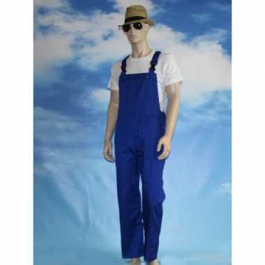 Blauwe kinder tuinbroek carnavalskleding