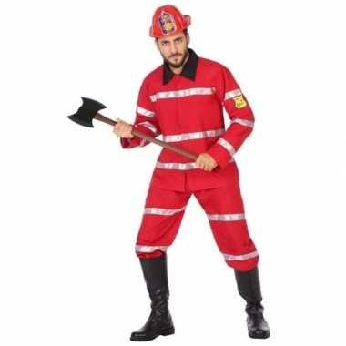 Brandweer uniform carnavalskleding heren