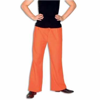 Broek oranje kleur carnavalskleding