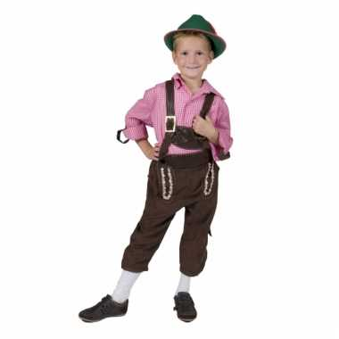 Bruine Oktoberfest lederhose kind carnavalskleding