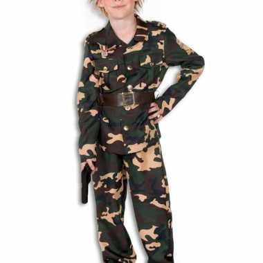 Camouflage carnavalskleding kind