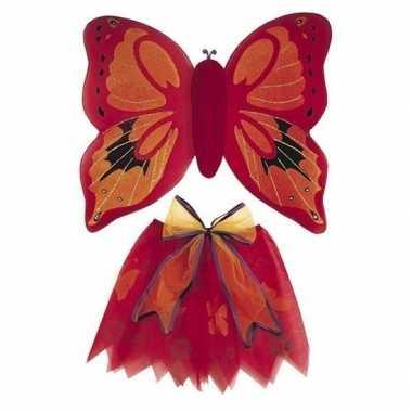Carnavalscarnavalskleding rode vlinder vleugels meises
