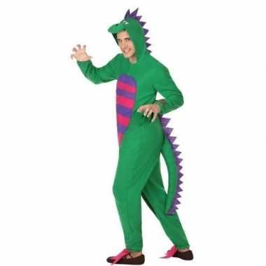 Carnavalskleding groene draak volwassenen