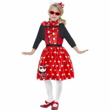 Carnavalskleding Hello Kitty rood