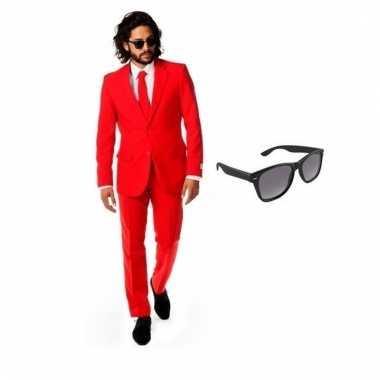 Carnavalskleding rood heren carnavalscarnavalskleding (xl) gratis zon