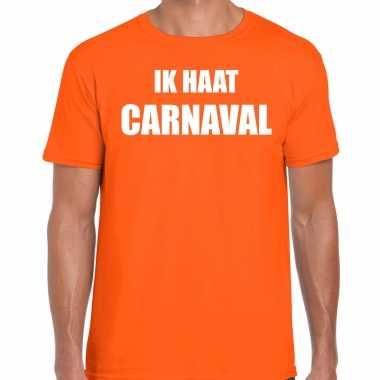 Carnavalskleding shirt orane heren ik haat carnavalskleding