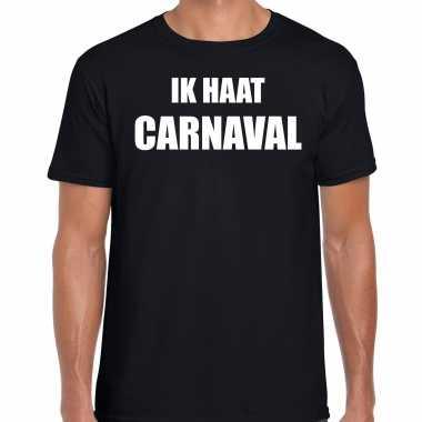 Carnavalskleding shirt zwart heren ik haat carnavalskleding