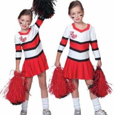 Cheerleader carnavalskleding plooi carnavalskleding kind