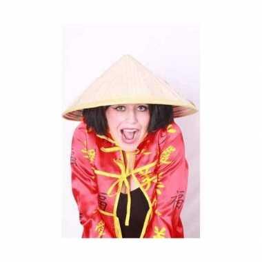 Chinese stro hoeden carnavalskleding
