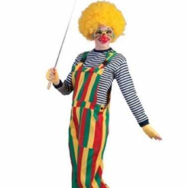 Clown tuinbroek carnavalskleding
