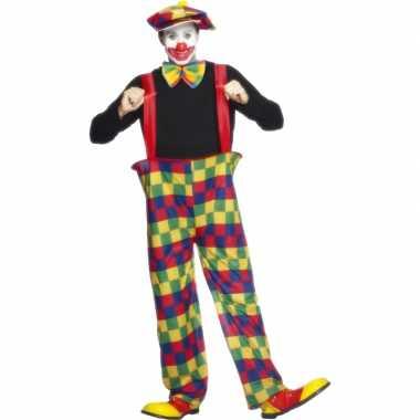 Clowns carnavalskleding volwassenen