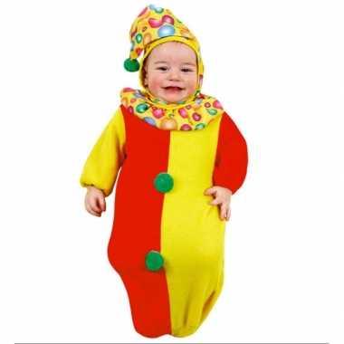 Clowntjes trappelzak baby carnavalskleding