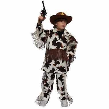 Cowboy carnavalscarnavalskleding koeienprint kinderen