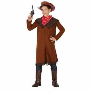 Cowboy ohn carnavalskleding bruin ongens