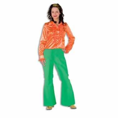 Dames broek groen wijd uitlopend carnavalskleding