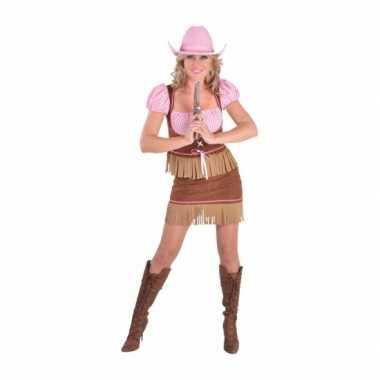 Dames cowgirl carnavalskleding
