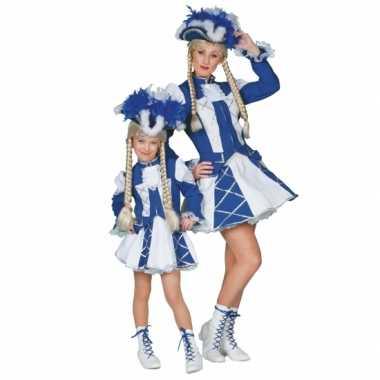 Dansmarieke carnavalskleding blauw kind