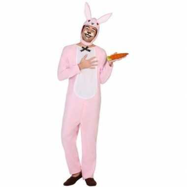 Dieren onesie paashaas/konin volwassenen carnavalskleding