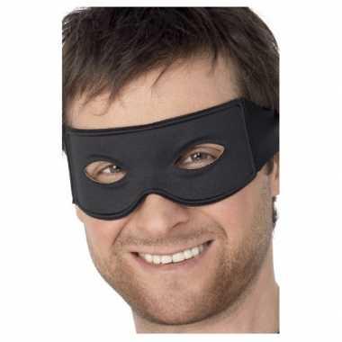 Dieven masker zwart carnavalskleding