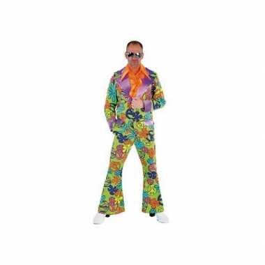 Disco Peace carnavalskleding gekleurd heren
