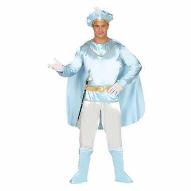 Droomprins carnavalskleding licht blauw volwassenen