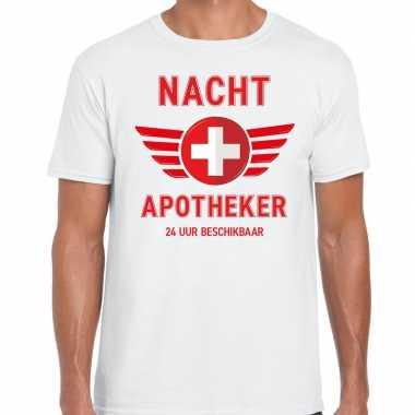 Drugs nacht apotheker uur beschikbaar carnavalskleding shirt wit here