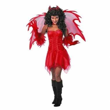 Duivel carnavalskleding rood dames