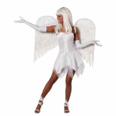 Engel carnavalskleding wit dames