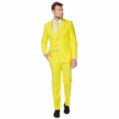 Fel geel maat carnavalskleding heren
