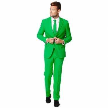 Fel groen maat carnavalskleding heren