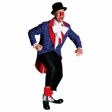 Geblokte clowns carnavalskleding rood accent