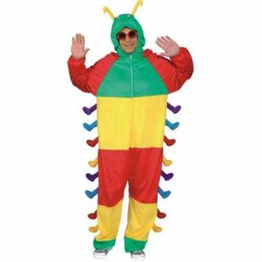 Gekleurd carnavalskleding rups