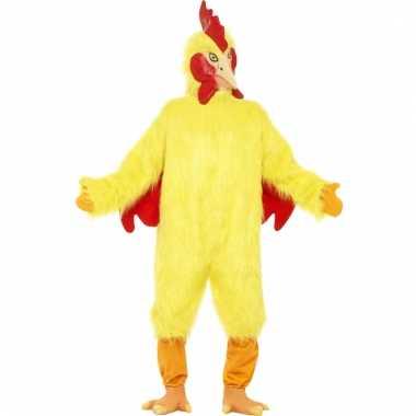 Gele kippen oufit volwassenen carnavalskleding