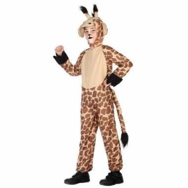 Giraffe onesie carnavalskledingset kinderen