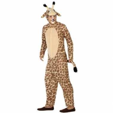 Giraffe onesie carnavalskledingset volwassenen