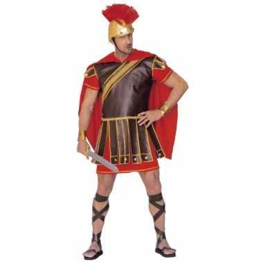 Gladiator carnavalskleding rood-bruin heren