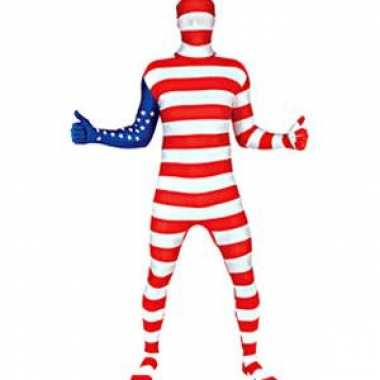 Goedkope carnavalskleding usa vlag