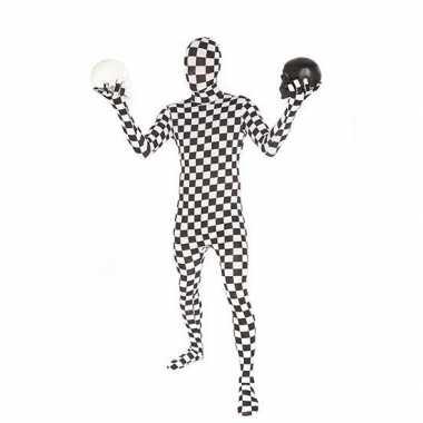 Goedkope morph carnavalskleding geblokt