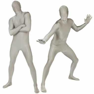 Goedkope morph carnavalskleding zilverkleurig