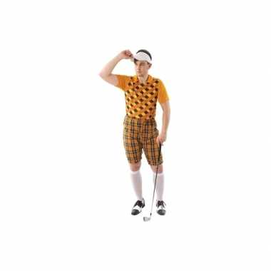 Golfers carnavalskleding orane heren