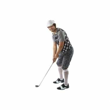 Golfers carnavalskleding zwart/wit heren