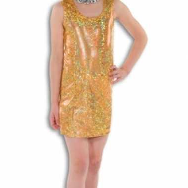 Gouden glitter carnavalskleding kind